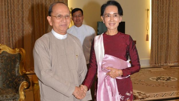Suu Kyi and thein sein